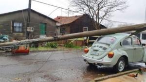 Estragos causados pelo ciclone