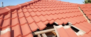 Colocação de telhas